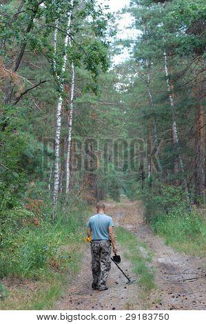 KIEV, UKRAINE - SEP 11: Member of Ukrainian Federation of Metal Searchin Sport on the First Ukrainian Competition of Treasure Hunting, September 11, 2010 in Kiev, Ukraine