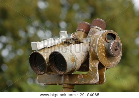 Range-finder . Old Soviet artillery equipment