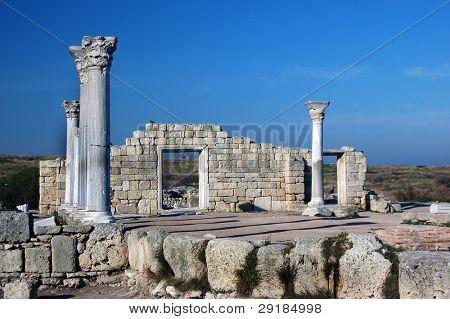 Ruins of ancient greek colony Khersones. Sevastopol,Crimea