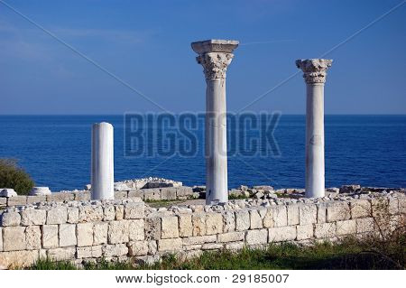 Ruins of ancient greek colony Khersones. Sevastopol,Crimea