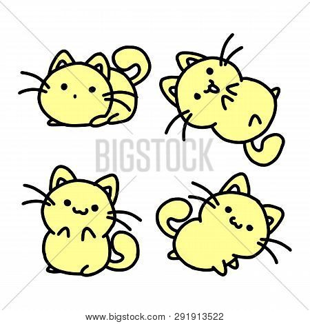 poster of Sitting Cat. Cat Vector. Sitting Cat Meme. Sitting Cat Drawing. Sitting Cat Cartoon. Sitting Cat Toy