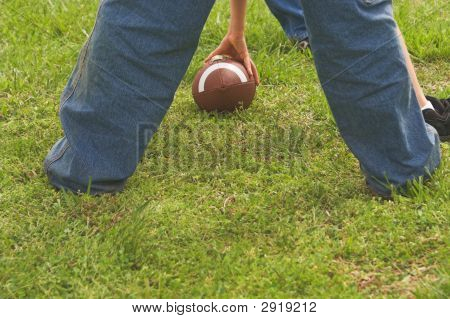 Wandern einen Fußball