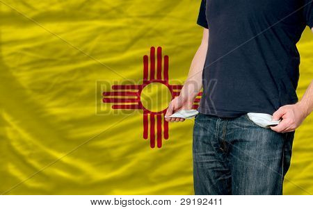 Recession Impact On Young Man And Society In American State Of New Mexico