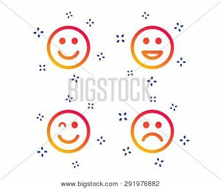 Smile Icons Happy Sad And