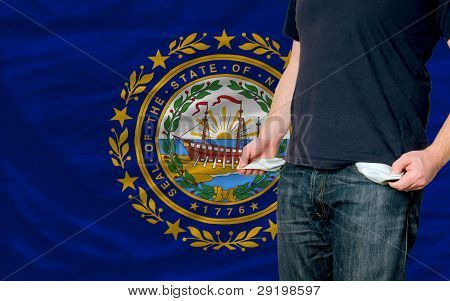 Recession Impact On Young Man And Society In American State Of New Hampshire