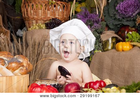 Cute Kid como un Chef