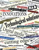 picture of current affairs  - Background editable vector illustration of technological headlines - JPG
