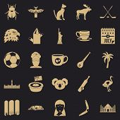 Landmark Icons Set. Simple Set Of 25 Landmark Vector Icons For Web For Any Design poster