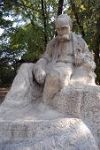 Ukrainian idol. Taras Shevchenko monument in Kiev, Malorussia (Ukhaine) poster