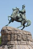 pic of bohdan  - Monument of famous Ukranian Hethman Bogdan Khmelnitsky in Kiev - JPG
