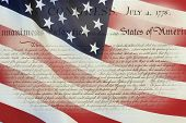 stock photo of preamble  - United States Declaration of Independence - JPG