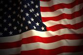 image of american flags  - American Flag background - JPG