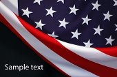 foto of waving american flag  - US Flag - JPG