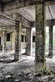 Lost city. Abandoned Psychiatric Hospital Construction