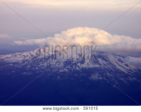 Aerial Of Mount Shasta, California