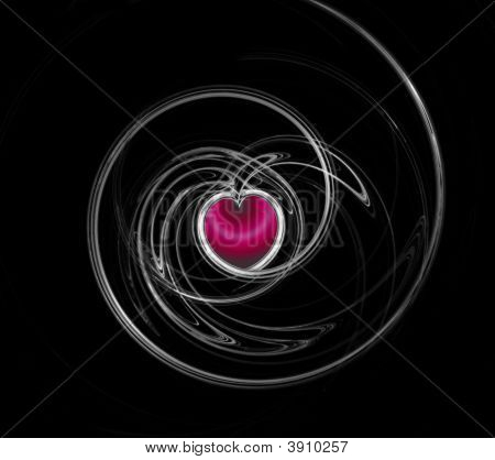 Abstract Fractal  With Heart