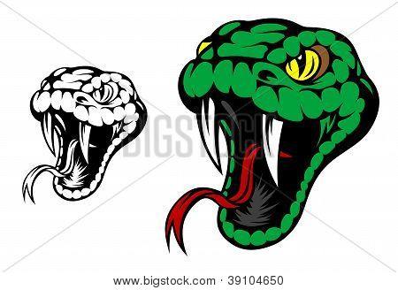 Snake, Green Snake mascotte