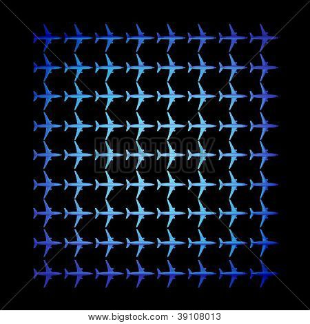 mosaic texture background planes over black background