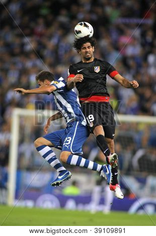 BARCELONA - SEPT, 30: Diego Costa of Atletico Madrid during a Spanish League match between Espanyol and Atletico Madrid at the Estadi Cornella on September 30, 2012 in Barcelona, Spain