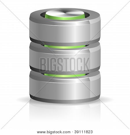 Database And Hard Disk Icon