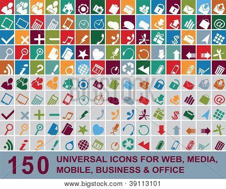 Multicolor Web icons