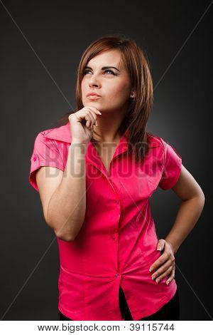 Pensive Businesswoman