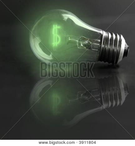 Cash Lightbulb Green