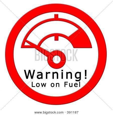 Warning! Low On Fuel
