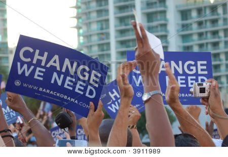 Bayfront Park Miami Obama Rally