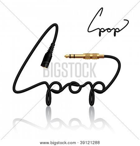 vector jack connectors pop calligraphy