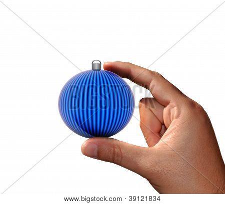 Hand with Christmas ball