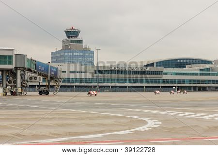 PRAGUE - NOVEMBER 01: Vaclav Havel Airport Prague on November 01, 2012.