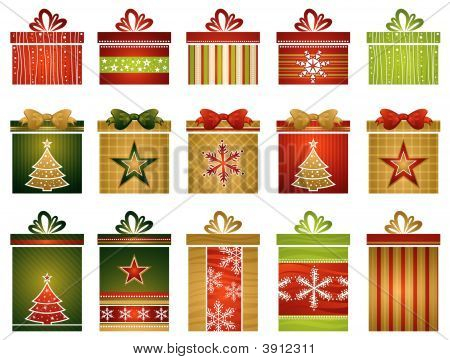 Fifteen Christmas Gifts, Vector