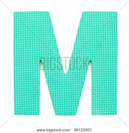 Rubber Alphabet M Isolated