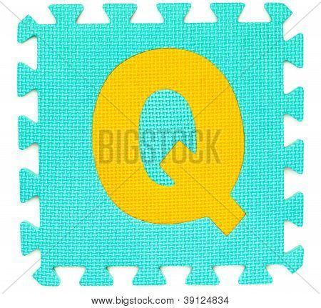 Rubber Alphabet Q Isolated