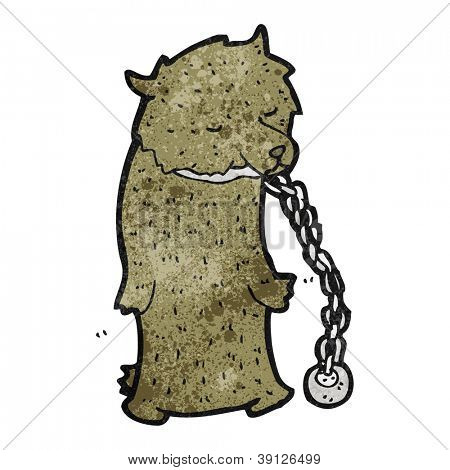 chained dancing bear cartoon