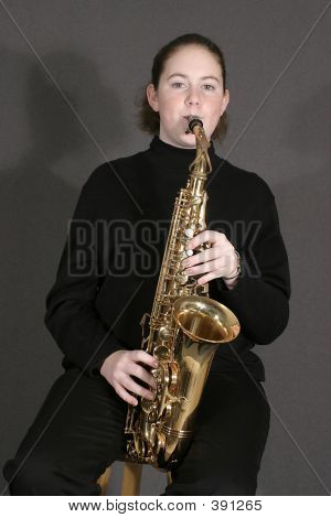 Student Playing Alto Sax