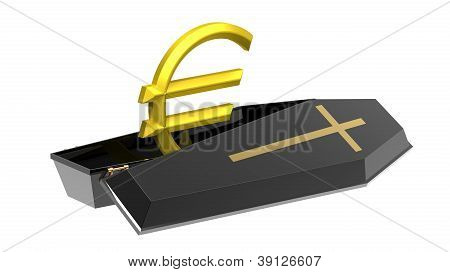 Euro In Coffin