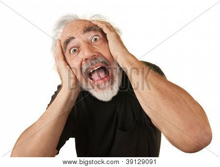 Screaming Older Man