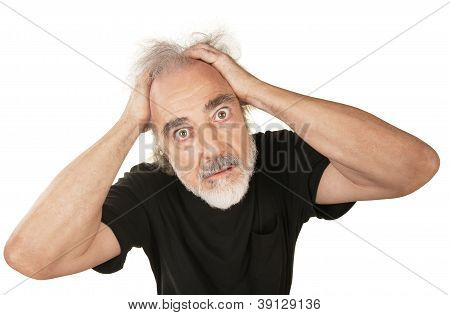 Wide Eyed Senior Male