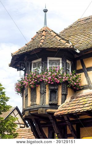 Scherwiller (alsace) - Houses And Flowers