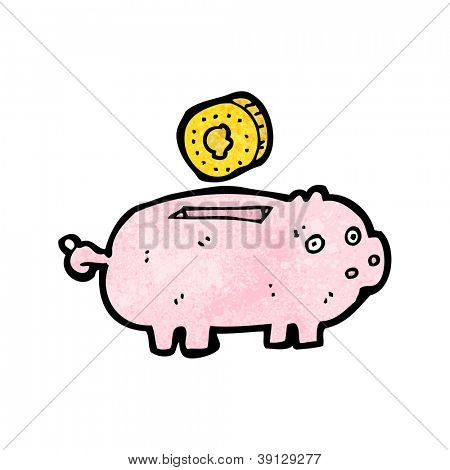 cartoon piggy bank
