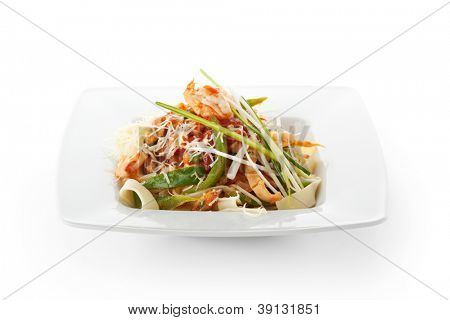 Italian Pasta with Seafood and Parmesan Cheese
