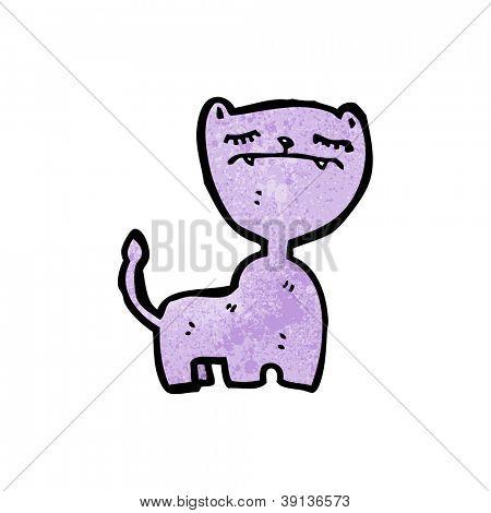 annoyed cat cartoon