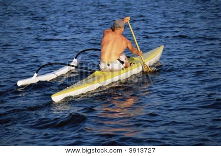 Man Boating On Ocean