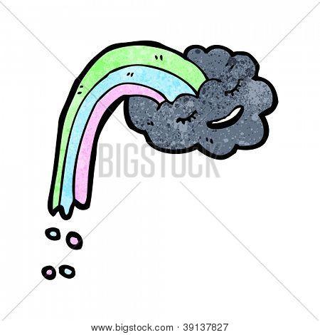 rainbow raincloud cartoon character