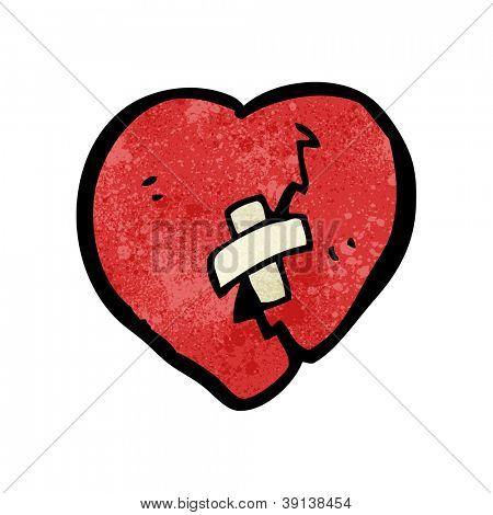 cartoon broken heart