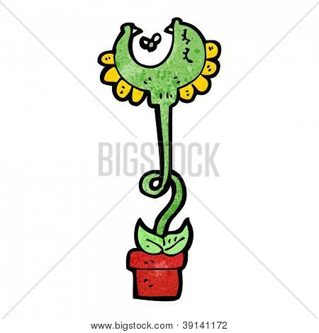 cartoon carnivorous plant