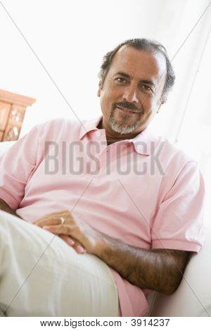 Middle Eastern Man Sat At Home