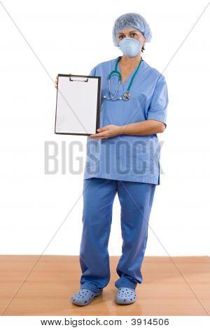 Woman Doctor Standing